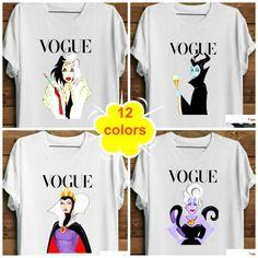 Disney Villain Shirt. Witch Shirt. Parody Shirt. Women's Disney Vogue Princess Shirt. Available for men & ladies. upto 12 colors. XS-2XL. #etsy #disney #disneyprincess #tshirt #streetstyle #tumblrshirt #tumblrtee #etsyshop #etsylove #etsyfinds #girlpower #girl #girlweekend #parodyshirt #disneyworld #disneystyle
