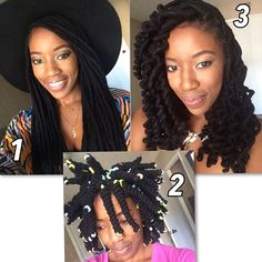 From straight yarn locs ➖ to curly using pipe cleaners!! #howtotuesday