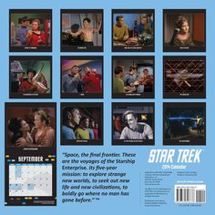 Star Trek 2014 Wall Calendar: The Original Series: Cbs: 9780789326638: Amazon.com: Books - See more at : http://www.amazon.com/gp/product/0789326639/ref=as_li_tl?ie=UTF8&camp=1789&creative=390957&creativeASIN=0789326639&linkCode=as2&tag=freeadvert003-20&linkId=2G7GWAFUZLXAJZXX