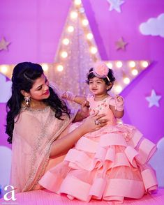 To get your baby outfit customized visit us at Srinithi In Style Boutique Madinaguda Hyd WhatsApp/Call Baby Frocks Party Wear, Kids Party Wear Dresses, Baby Girl Party Dresses, Girls Dresses, Mommy Daughter Dresses, Mother Daughter Fashion, Mother Daughter Matching Outfits, Mom Daughter, Daughters