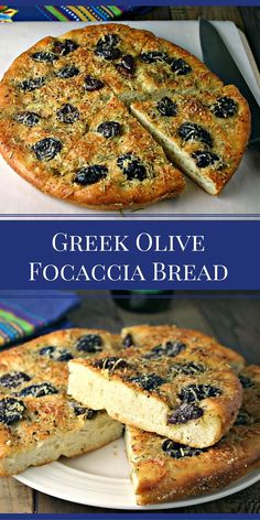 Greek Olive Focaccia Bread | Life, Love, and Good Food #recipe #bread