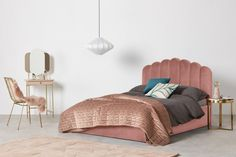 Velvet Headboard, Velvet Bed, Pink Velvet, Ottoman Storage Bed, Ottoman Bed, Kids Single Beds, Bed Frame With Mattress, Camas King, Furniture Market