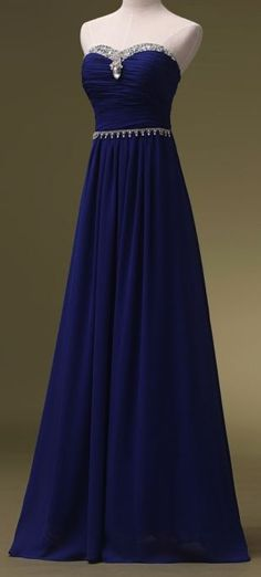 Beautiful Prom Dress, royal blue prom dresses sweetheart evening gowns simple formal dresses beaded prom dresses long evening gown modest evening dress chiffon prom dresses new style prom gown Meet Dresses Royal Blue Prom Dresses, Long Bridesmaid Dresses, Grad Dresses, Long Dresses, Dresses Dresses, Bridesmaids, Ball Dresses, Ball Gowns, Chiffon Dresses
