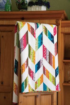Gorgeous Alison Glass herringbone quilt.