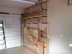 Lumber Rack, bottom rolls out.