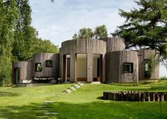 Cylindrical Log Cabins - Jan Henrik Jansen's 'Birkedal' is a Holiday Home in Denmark (GALLERY)