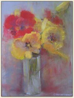 Les tulipes - pastel -