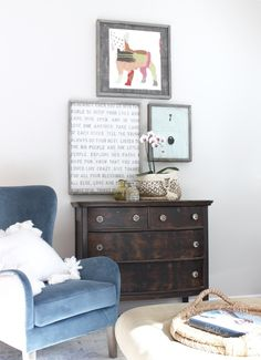 the redesign company   art by sugarboo designs   old dresser   coziness