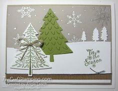 November Stamp-of-the-Month: Winter Peaceful Pines Cards