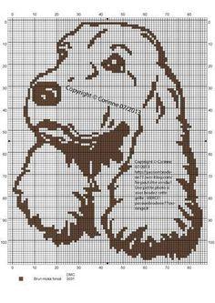 Filet Crochet Charts, Knitting Charts, Knitting Stitches, Cross Stitch Alphabet Patterns, Cross Stitch Charts, Cross Stitch Embroidery, Pixel Pattern, Dog Pattern, C2c
