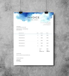 Invoice Template | Receipt | MS Word Template | Instant download Invoice by EmandCoDesign on Etsy