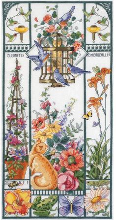 Summer Cat Sampler - Cross Stitch Kit