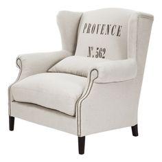 a great beach house or entry way chair.. take a book over Memorial Day Weekend and lounge in front of the TV>>?   Napoleon Wingback Chair from the Dec-A-Porter event at Joss and Main!