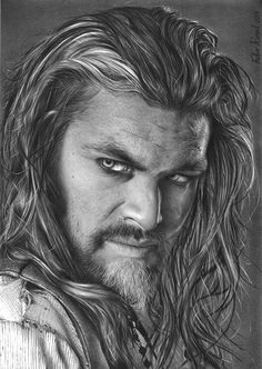 Realistic Pencil Drawings, Pencil Art Drawings, Drawing Sketches, Pencil Sketch Portrait, Portrait Sketches, Marvel Drawings, Celebrity Drawings, Arte Disney, Jason Momoa
