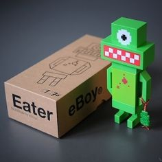 eBoy's limited edition signed Blockbob Eater toys are so cute! and so very eBoy!