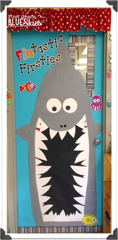 Make the first day back to school a blast with these creative classroom door ideas! You'll be the star teacher with these classroom hallway decorations! Classroom Setting, Classroom Door, Classroom Displays, School Classroom, Classroom Themes, Ocean Themed Classroom, Classroom Design, Kindergarten Classroom, Future Classroom