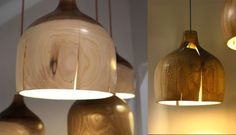 http://stusshed.com wood turning project lamp rustic modern cracked awesome!