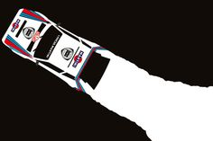 Delta art print, by cale funderburk Martini Racing, Lancia Delta, Mobile Art, Car Posters, Car Sketch, Graphic Design Posters, Graphic Art, Automotive Art, Performance Cars