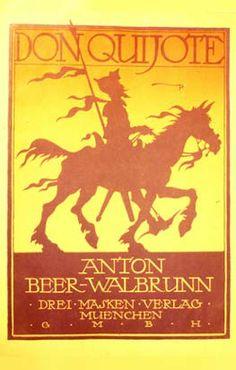 Anton BEER - WALBRUNN. Don Quijote der sinnreiche Junkervon der Mancha. Cubierta litografiada de la partitura.  Biblioteca Musical Municipal (Madrid)