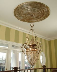 Ceiling Medallions Mesmerizing Ceiling Decor With Crown Molding Ceiling Medallion And Crystal Decorating Inspiration
