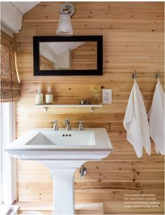 pine planked wall
