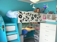 Google Image Result for http://grahadesain.com/wp-content/uploads/Floral-painting-loft-bed-decor-gallery.jpg