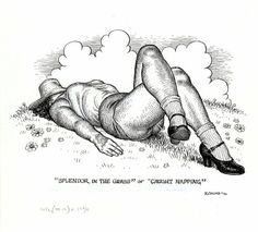 Original pin-up by Robert Crumb from Art & Beauty Magazine, published by Fantagraphics, 1996.