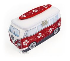 VW Neoprene Toiletry or Lunch Bag, Red