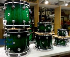 Emerald Stain to Black Burst. #dwdrums #thedrummerschoice