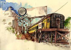 http://www.gardnerillustration.com/sketches/sunset-strip-diner