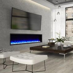 Terrific Pic Electric Fireplace apartment Tips Great Free of Charge Electric Fireplace apartment Tips Mounted Fireplace, Fireplace Tv Wall, Modern Fireplace, Fireplace Design, Fireplace Ideas, Living Room Tv, Living Room With Fireplace, Recessed Electric Fireplace, Electric Fireplaces