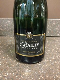 Mailly Brut Reserve Grand Cru Champagne - Straw yellow with fine and numerous bubbles. Wonderful toast and some floral notes on the nose. Excellent acidity with fruity notes, especially peach on the palate. Dry. 86 points. Buy