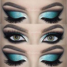 Melissa Samways » Blog Archive » ♡ Dramatic Aqua Blue Cut Crease ♡