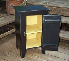 Side Table Cabinet, Makes great nightstand or end table. by BuckCreekFurnishings on Etsy https://www.etsy.com/listing/14915817/side-table-cabinet-makes-great
