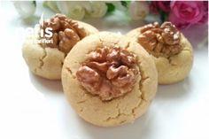 Μπισκότα με ταχίνι και καρύδια Turkish Recipes, Tahini, Garlic, Muffin, Sugar, Vegetables, Cooking, Breakfast, Food