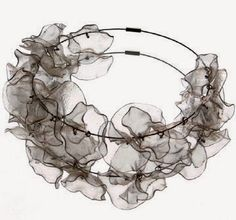 """#recycled """"plastic #bottle #necklace featured in the new book Art Without Waste by Patty Wongpakdee"""