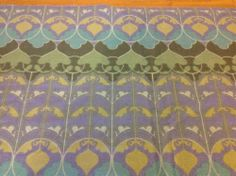 VTG fabric material Heals fabric 'Arabesque' David Bartle 60's 70's fabric