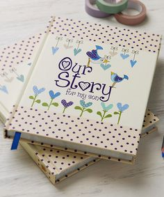 Another great find on #zulily! 'Our Story for My Son' Memory Book by from you to me #zulilyfinds