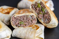 Philly Cheese Steak Wraps are the ultimate comfort food. Looking for a new weeknight dinner to add to your rotation? Well, this wrap is on the table in just 30 minutes! Philly Cheese Steak Sandwich Recipe Easy, Easy Sandwich Recipes, Wrap Recipes, Beef Recipes, Cooking Recipes, Sandwich Ideas, Healthy Recipes, Healthy Meals, Chicken Recipes
