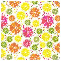 Buy PUL fabric in Vibrant Citrus print by the yard or cut. Make cloth diapers, snack bags, and more! Made in USA. Waterproof, breathable, food safe, CPSIA compliant.