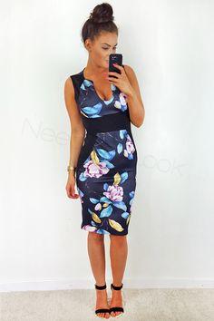 Sukienka ołówkowa midi w kwiaty Bodycon Dress, Dresses, Fashion, Gowns, Moda, La Mode, Dress, Fasion, Day Dresses