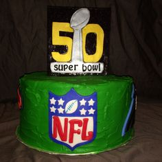 Super bowl 50 NFL cake by yuMM