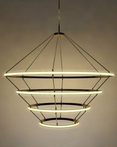 Halo pendant light. Designed by Paul Loebach, manufactured by Roll & Hill.