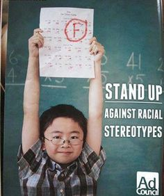 Stand up against racial stereotypes. wow laughed way harder than i should have at this