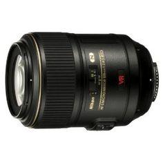 Nikon 105mm f/2.8G ED-IF AF-S VR Micro-Nikkor Lens. A great macro lens and studio lens