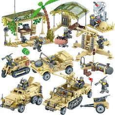 Auto Replacement Parts: Promo Offer Military Camp Trucks Jeeps car Building Blocks Compatible legoed Army Soldiers Weapon set Bricks Toys for Children Model Building Kits, Building Toys, Legos, Minions, Military Jeep, Jurassic World Fallen Kingdom, Soviet Army, Lego Toys, Army Soldier