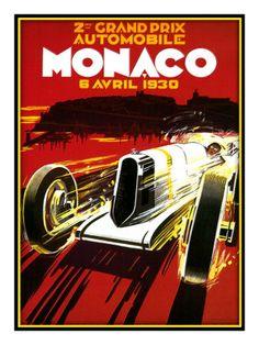Monaco 1930 - Giclee Print