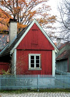 red cottage, Oslo, Norway