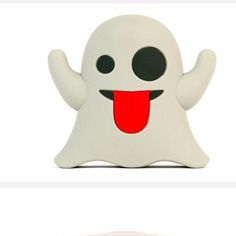 Use this cute Ghost Emoji to charge your phone. - Kawaii Ghost Portable Power Bank for Your Android or IOS Phone Up to 2 Full Charges at 2000 MAH Capacity - Includes Micro Charging USB Cable - Works w