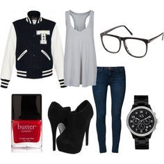 cute winter outfits with letterman jackets - Google Search